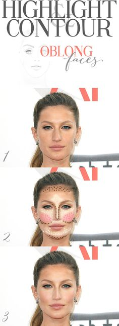 Contouring an oblong face shape beauty pinterest oblong face highlighting and contouring for oblong faces ccuart Gallery