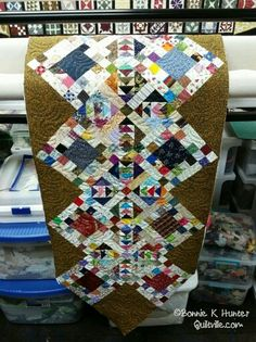 On the blog this morning : turning some Addicted to Scraps blocks into a quickie table runner for the cabin! http://quiltville.blogspot.com/2015/07/fabric-friends-and-found-blocks.html Come check it out! #quilt #quilting #patchwork #quiltville #bonniekhunter #addictedtoscraps #sewmystash2015 @quiltmakermag