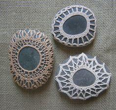 crocheted stones lovely