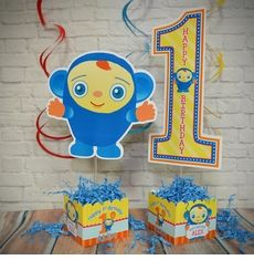 Peek-A-Boo Birthday Party Personalized Table Centerpiece