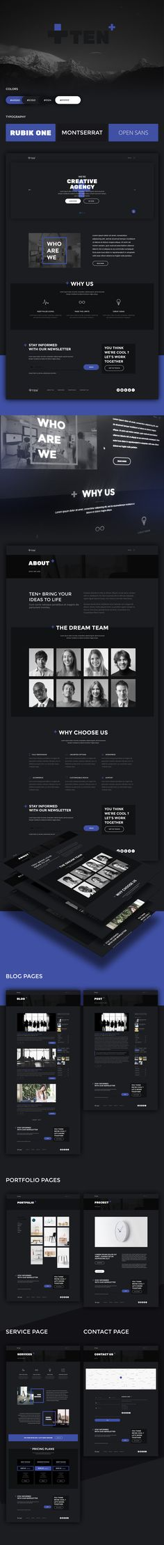 Download now PSD files & HTML Files for FREE.Ten+ is a creative template for digital agencies.
