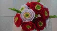 Felt flower by me. See how I made it on this link http://klovecrafts.blogspot.com/2016/03/huong-dan-lam-hoa-vai-da-phan-2.html