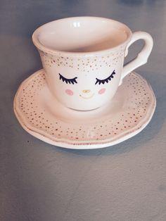 DIY kop en schotel met porseleinstift porcelainmarker