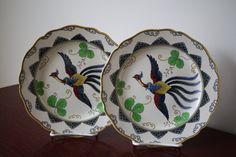 Pair of antique Royal Doulton English chinoiserie by WWBdesign, $128.00