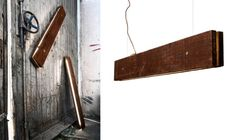 Reclaimed wood lamp