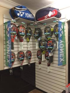 Selection of tennis rackets in store!
