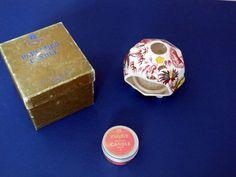 1950s FLORIS CANDLE HOLDER /  BOX / ORIGINAL REFILL TIN MASONS VINTAGE