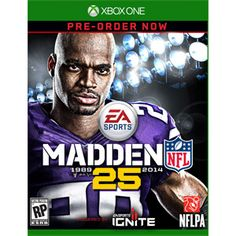 Madden NFL 25 (Xbox One) featuring on the cover, Adrian Peterson, Minnesota Vikings