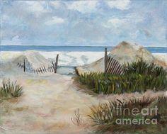 Beaches Of Amelia Island original oil painting By Marilyn Nolan-Johnson