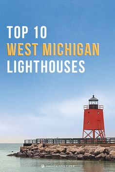 Take a vacation touring these pretty lighthouses in West Michigan. Not sure why they left out Grand Haven.definitely a must see! Michigan Vacations, Michigan Travel, Western Michigan, Lake Michigan, Oh The Places You'll Go, Places To Visit, All I Ever Wanted, Camping, Great Lakes