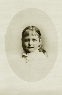 Princess Marie of Hesse and by Rhine, daughter of Grand Duke Louis and his wife Alice, second daughter of Queen Victoria. The poor little    princess died young of diphtheria in 1878, at the age of only 4.