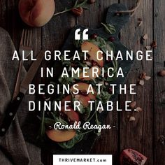 #RonaldReagan knew the importance of a good dinner.