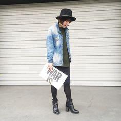 今日のコーデ。ビッグGジャン×ペンシルスカート の画像|山本あきこオフィシャルブログ「見た目チェンジで人生が変わる」Powered by Ameba