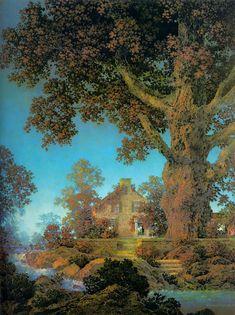 maxfield+parrish | Maxfield Parrish Paintings - Maxfield Parrish Morning Light Painting
