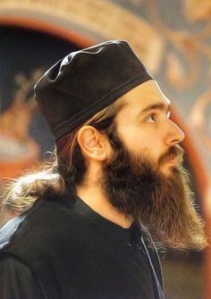 Byzantine Icons, Byzantine Art, Long Hair Beard, Beard Art, Long Beards, Orthodox Christianity, The Monks, Hair And Beard Styles, Hair Styles