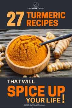 27 Turmeric Recipes That Will Spice Up Your Life via @dailyhealthpost