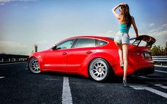 HD Girl And Audi Wallpaper