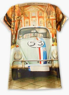 992b232b Vintage Womens Short Sleeve House Car Graphic Printed T Shirt Tee Blouse  Tops
