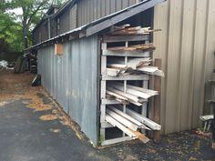 Carport With Storage, Wood Storage Sheds, Outside Storage, Wood Shed, Built In Storage, Garage Storage, Storage Shed Organization, Workshop Storage, Diy Storage