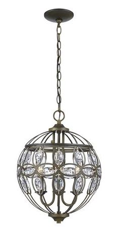 Patriot Lighting® Nicole 3 Light Antique Brass Pendant Light at Menards®  sc 1 st  Pinterest & Patriot Lighting Elegant Home 23.75