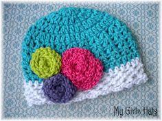 Jelly BeanCrochet Stripe by mygirlshats on Etsy, $16.00 www.mygirlshats.etsy.com