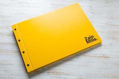 A3 Exposed Screw Post Portfolio Book in Yellow Buckram