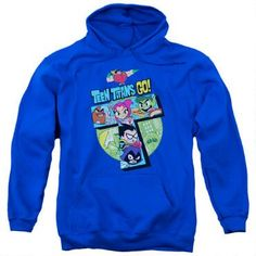 Teen Titans Go Adult Royal Blue Hoodie