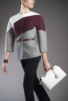 The Fendi Fall/Winter 2014-15 By The Way bag worn holding the short handle