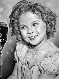 An amazing pencil-art portrait of Shirley Temple by Watch her! The original can be found here: [link] Shirley Temple - Colored Celebrity Drawings, Celebrity Portraits, Shirley Temple, Temple Movie, Pencil Art Drawings, Horse Drawings, Jolie Photo, Pencil Portrait, Amazing Art