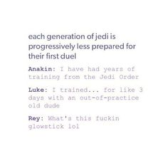 =<<<I love Rey though and that is funny.