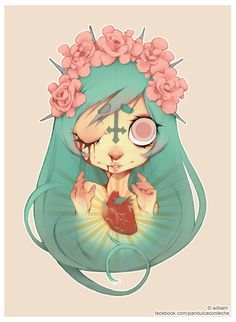 Ofelia's sacred heart. by william-adolphe.deviantart.com on @deviantART