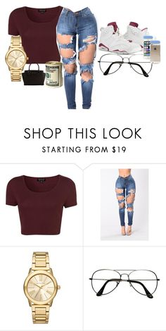 """Something random✊"" by kisha1891010 on Polyvore featuring Topshop, Michael Kors and ZeroUV"