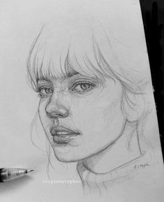 Portrait Sketches, Art Drawings Sketches Simple, Pencil Art Drawings, Realistic Drawings, Portrait Art, Drawing Ideas, Easy Drawings, Pencil Sketching, Sketch Art