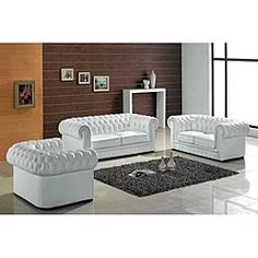 @Overstock.com - Madeline Modern White Leather Sofa  - This Madeline modern white leather sofa features rubber webbing support and thickly padded arms. A solid hardwood frame construction makes this a durable as well as beautiful sofa.  http://www.overstock.com/Home-Garden/Madeline-Modern-White-Leather-Sofa/5323373/product.html?CID=214117 $1,845.99