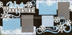 Winter Wonderland Scrapbook Page Kit - Click Image to Close