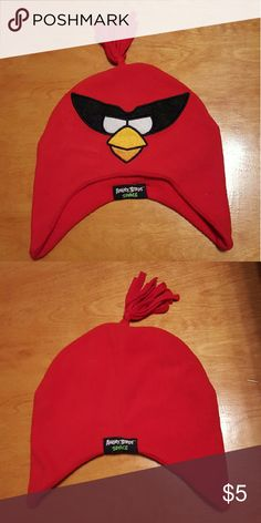 Little boy fleece hat Angry bird's fleece hat. Fits a toddler to little boy size head. Guessing I would say from a 2 to 5 year old. Never worn. Comes from smoke free and pet free home. Accessories Hats