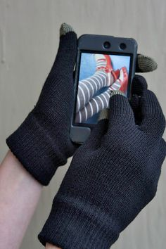 NEED these! Gloves with special fingertips so you can still use your touch screen.