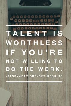#writing #talent #persistence