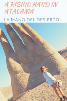 Visiting La Mano del Desierto, a giant hand statue created to honor victims of the military regime in Chile. #DreamHolidayContest
