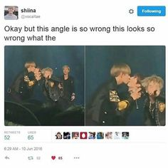 No it looks so right . Suga rapping rap mon is judging and taekook be kissing