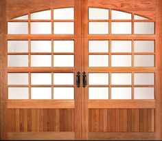 Clopay custom wood garage doors are inspired by the past and built for the way we live today. Carriage Style Garage Doors, Wooden Garage Doors, Garage Door Springs, Garage Office, Custom Wood, Windows And Doors, Wood Bedroom, Bedroom Doors, Interior Doors