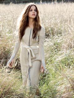 Super Natural - Hungarian beauty Barbara Palvin poses in woodland/countryside setting in imagery by Derek Henderson for the June issue of Vogue Australia. Kate Darvill styles together softly tailored looks. Hair by Sophie Roberts, Make-up by Fiona Hay, Set Design by Sophie Fletcher.  Smile