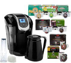 Keurig 2.0 K350 Coffee Maker w/ 54 K-Cup Packs, 8 K-Carafe Packs & Filter