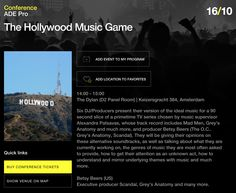 Getting really excited for this year's Amsterdam Dance Event - this is one of the panels I'm doing: 'Hollywood Music Game' on October 16 #ade2014 #stonebridge #hollywoodmusicgame