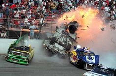 """""""Woah, the remains of Geoff Bodine's Truck after his crash at Daytona in Nascar Crash, Nascar Racing, Auto Racing, Nascar Wrecks, Bristol Cars, Dale Earnhardt Jr, Grand National, Car And Driver, Race Day"""