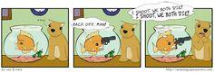 Who sold him the gun? Was it the CAT?! Da da DAAAA (Probably not)