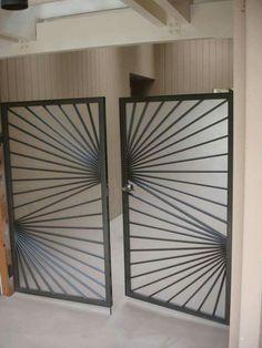 Steel Gate - See it here! Home Gate Design, Steel Gate Design, Front Gate Design, Grill Gate, Tor Design, Window Grill Design, Metal Gates, Gate House, Steel Doors