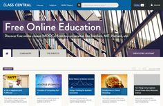 Class Central — сборщик информации о курсах на различные тематики на множестве различных порталов, включая #Coursera, #Edx, #Udacity и многие другие. #ОбразованиеВСети