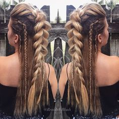 hairstyles for long hair hair vikings hairstyles for white girls to braid hairstyles for short hair hairstyles homecoming hairstyles real hair braided hairstyles hairstyles romantic Pretty Hairstyles, Easy Hairstyles, Hairstyle Ideas, Viking Hairstyles, Wedding Hairstyles, Braided Mohawk Hairstyles, Hairstyle Braid, Pirate Hairstyles, Hair Plaits