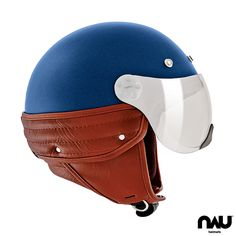N350 WIND SPIRIT 1852M - Matt Blue&Brown | (1852M-FV - Sun Visor)